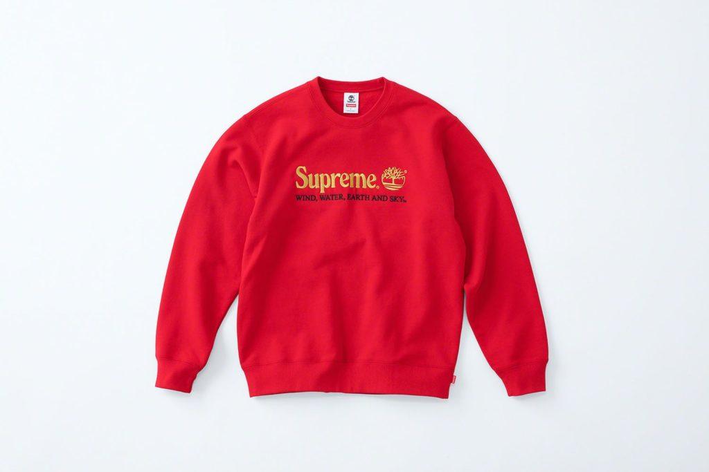 Supreme x Timberland Hoodie Red