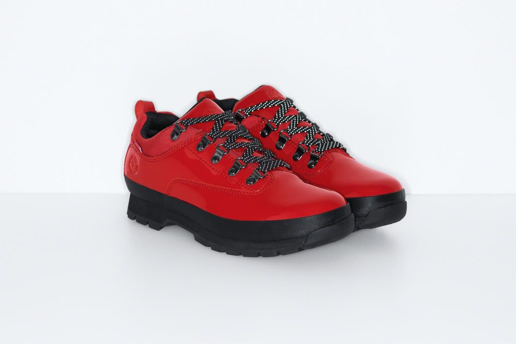 Supreme x Timberland Euro Hiker Low Red