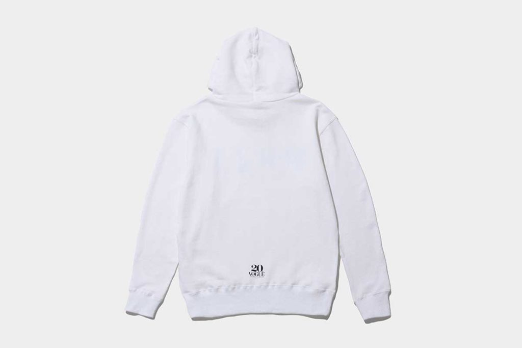 vogue-japan-the-conveni-Hoodie-White-Back