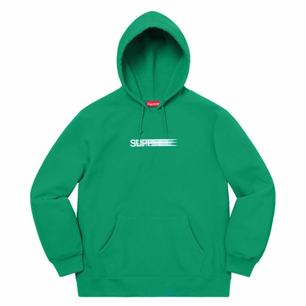Supreme-hoodie-Green