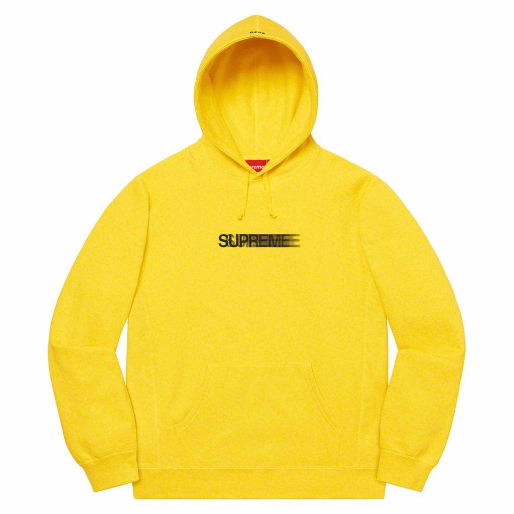 Supreme-hoodie-yellow