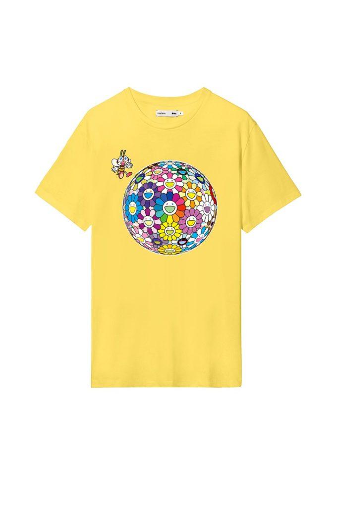 Takashi-Murakami-x-PANGAIA-World-Bee-Day-2020-Capsule-Collection-Yellow-Tee-Frontjpg
