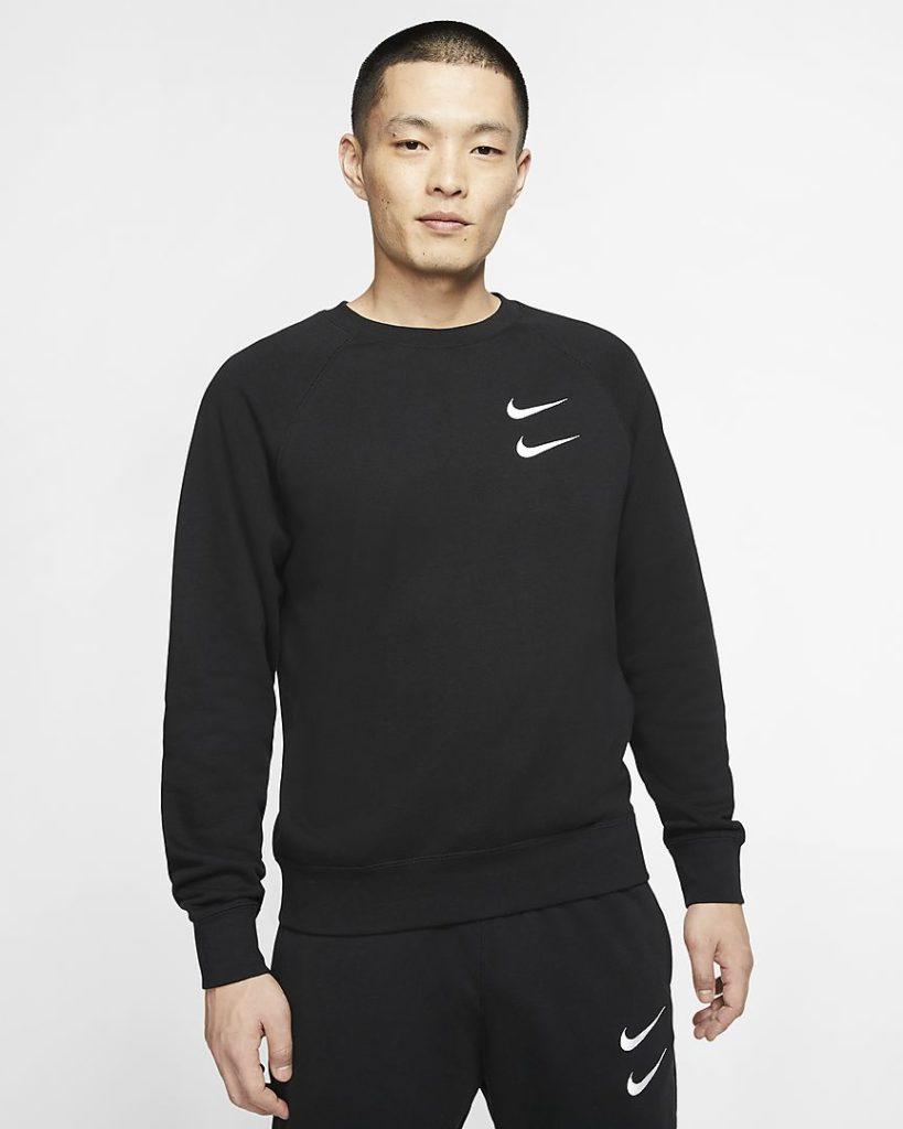 maglia-a-girocollo-in-french-terry-sportswear-swoosh-FcxX6F