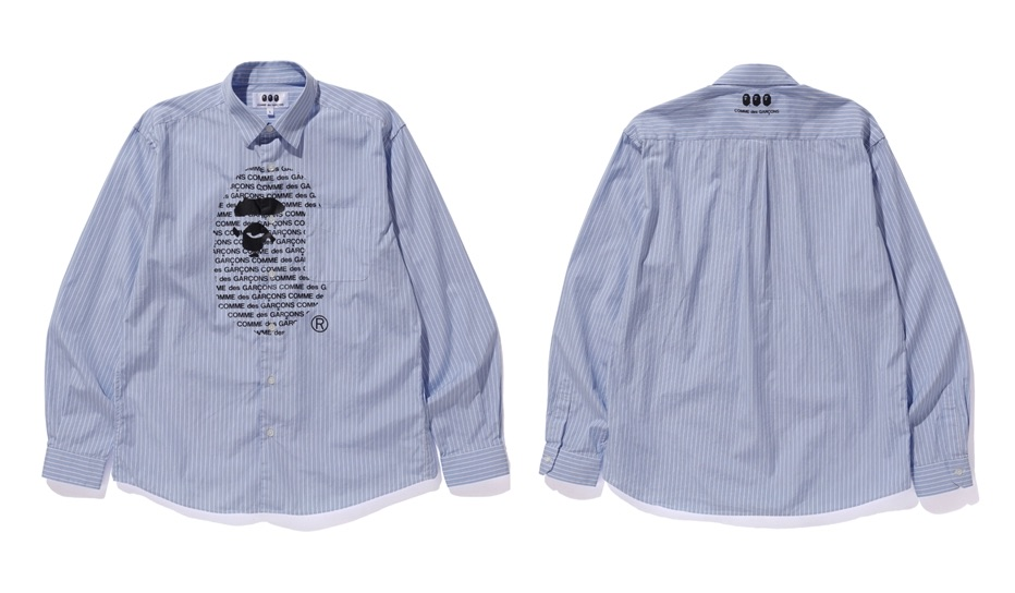 A BATHING APE × COMME des GARCONS Camicia Logo Release