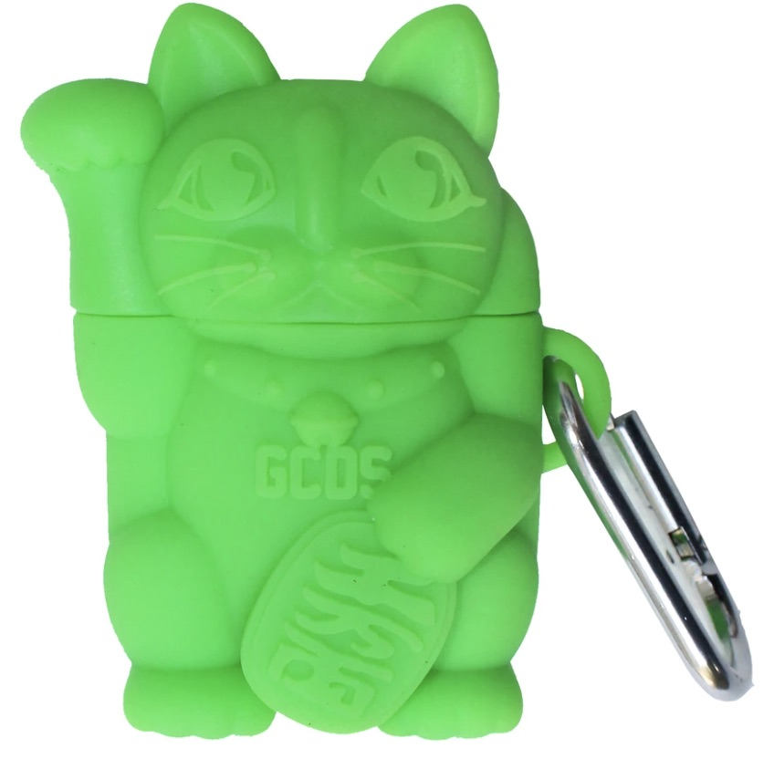GCDS-Airpods-Cat-Cover-Streetwear-Green-Fluo