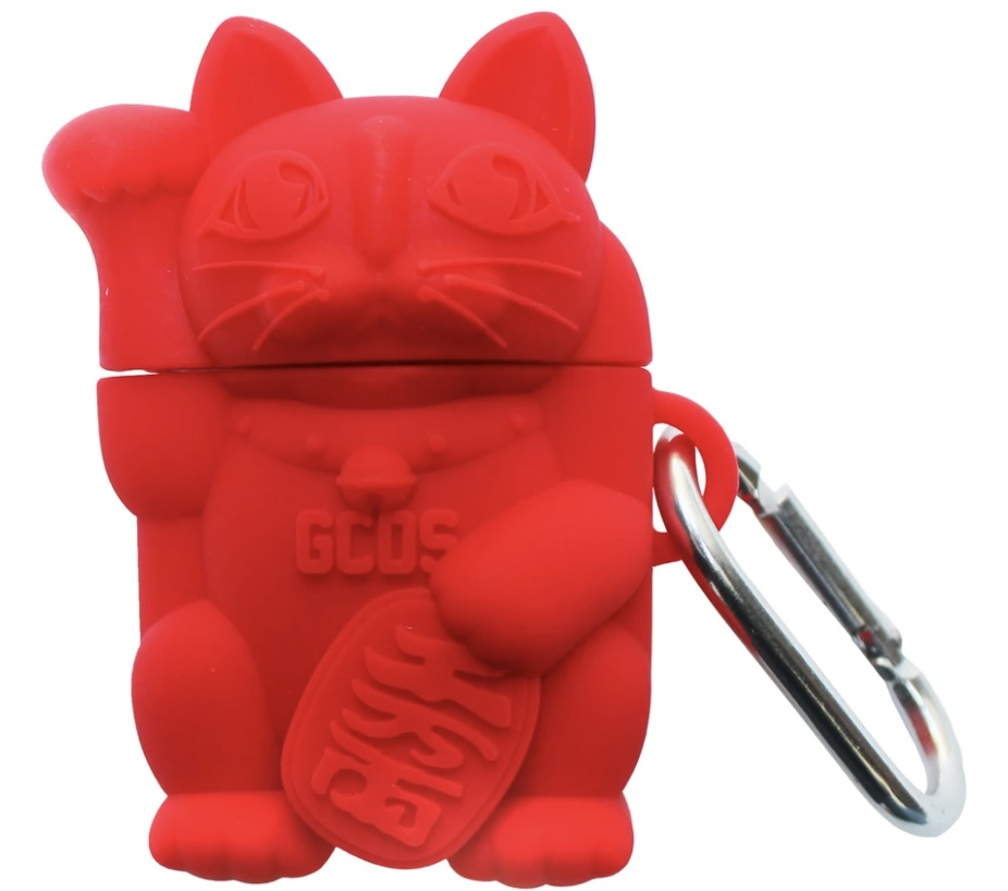 GCDS-Airpods-Cat-Cover-Streetwear-Red