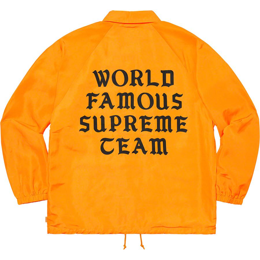 Supreme World Famous Coaches Jacket Back 18 Giugno 2020