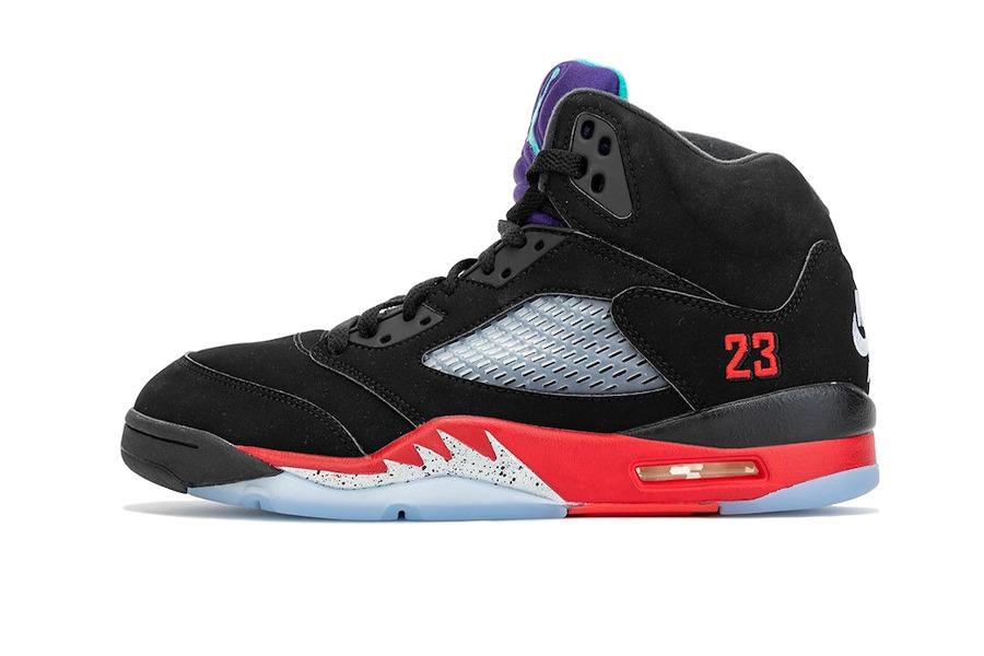 Vista laterale delle sneakers