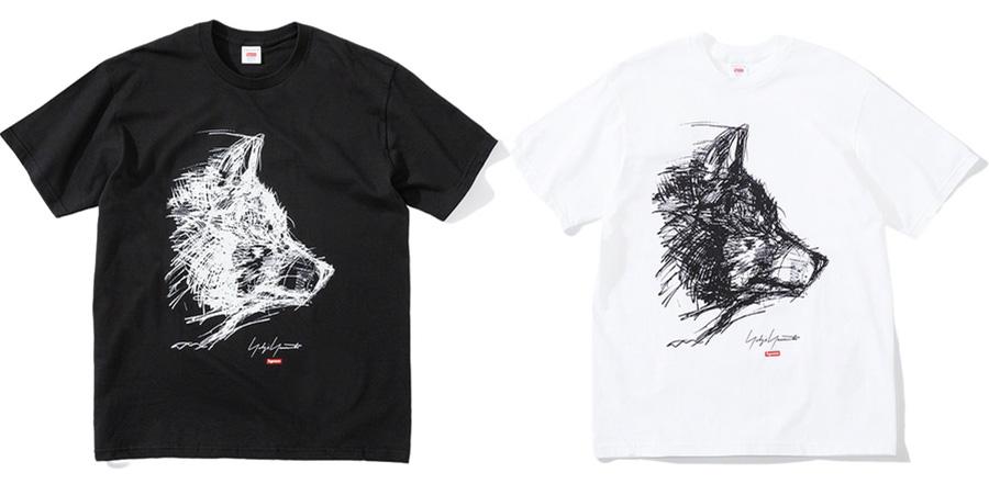 Supreme-x-Yohji-Yamamoto-Scribble-Wolf-Tee-Week-4-17-09-2020