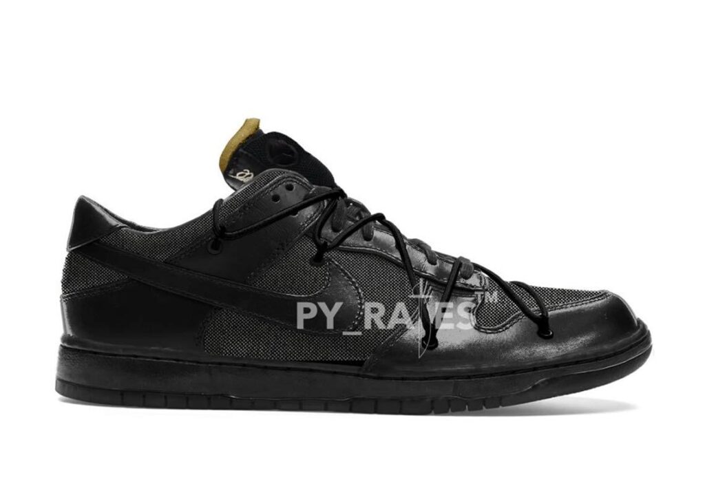 Off-White-Nike-Dunk-Low-Triple-Black-First-Look-Model-2-Release-2021