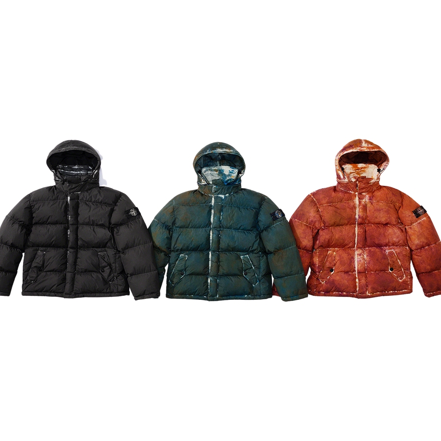 Supreme-x-Stone-Island-Painted-Camo-Crinkle-Down-Jacket-Drop-Week-13-19-11-2020-Front