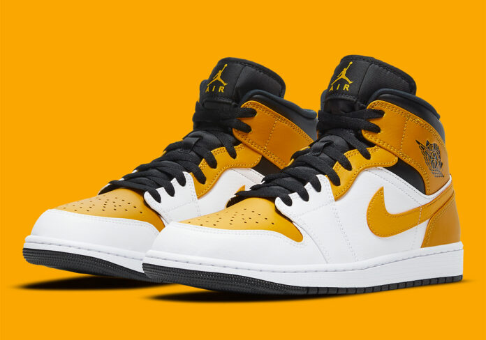 air-jordan-1-mid-university-gold-Gialle