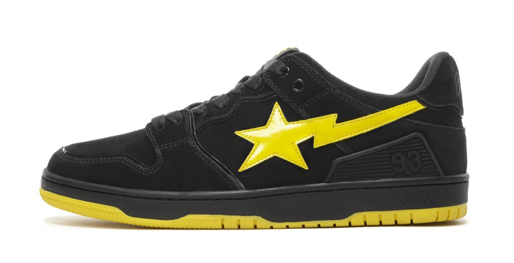 bape-sk8-sta-black-electric-yellow-lateral