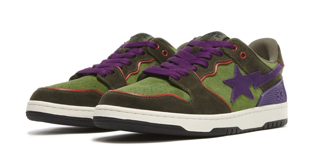 bape-sk8-sta-dark-purple-and-green-pair
