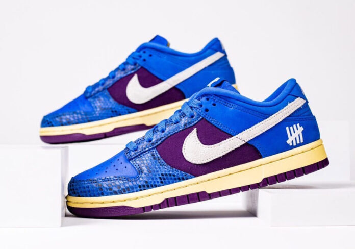 undefeated-nike-dunk-low-blue-snakeskin-lead